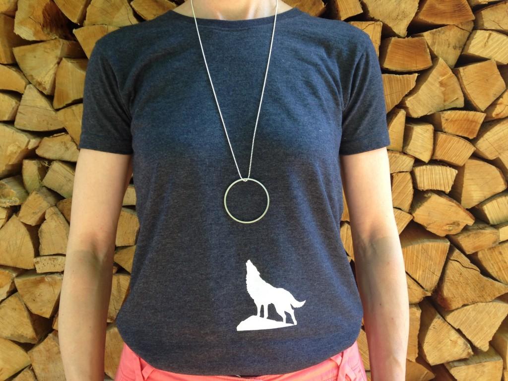 """T-Shirt + Kette """"Wolf"""""""